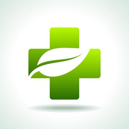 verde Icono médico Ilustración de vector