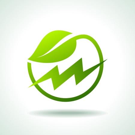 alimentazione di energia verde Vettoriali