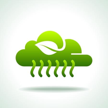 antipollution: verde icono Guardar concepto medio ambiente Vectores
