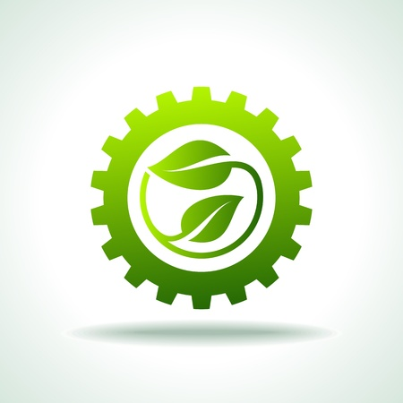 gears concept: environmentally friendly industries  Illustration