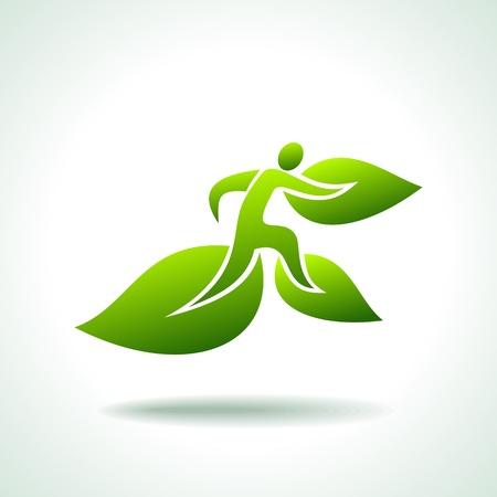 earth friendly: conjunto de personas ecol�gicos Vectores