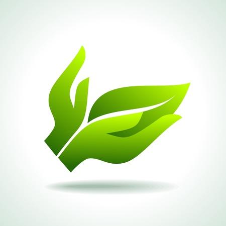 Denk Groen Ecologie Concept pictogram