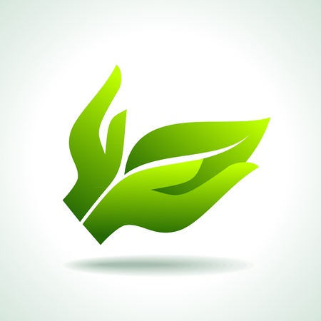 Think Green  Ecology Concept icon Vector