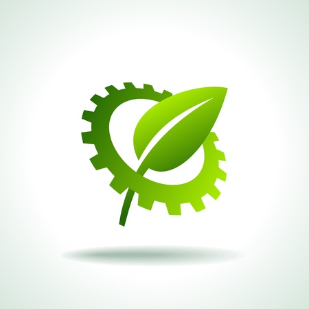 environmentally friendly gear Vector
