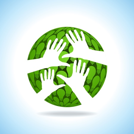 hand hold the globe idea Vector