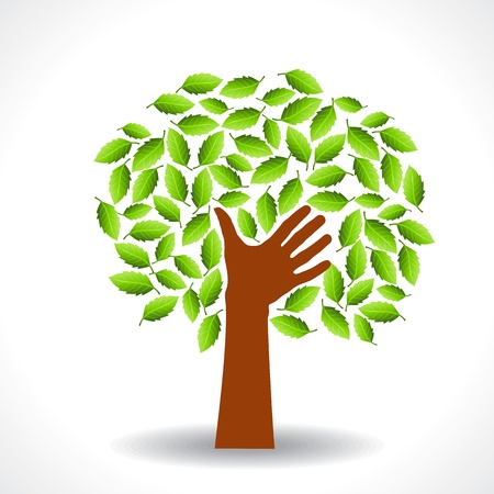 hands holding tree: save environment save tree