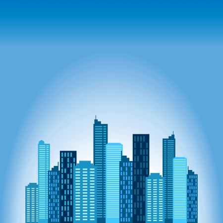 big business: ma�ana de ciudad Vectores