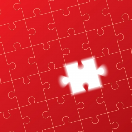 jigsaw puzzle, solution concept Vector