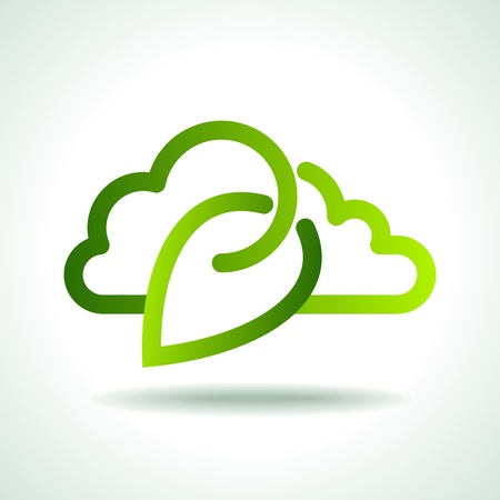 meteorology: green Icon save environment concept