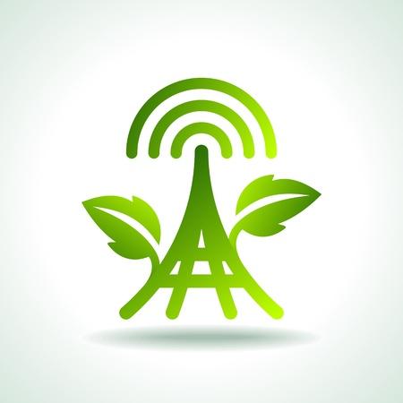 発電機: 電源のグリーン エコロジー アイコン