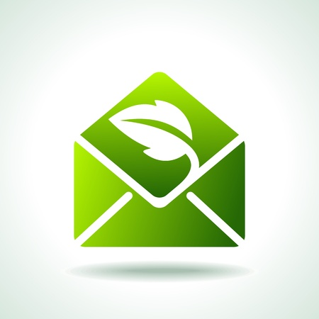 web mail: Green Ecology Icons Illustration