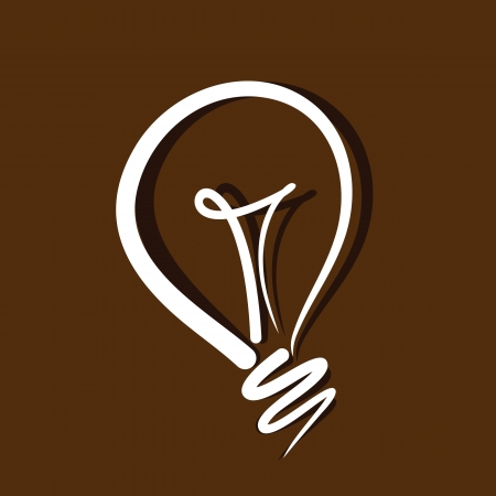 electric bulb: light bulb vector on brown background Illustration