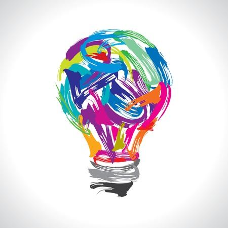 lightbulb idea: idea di pittura creativa