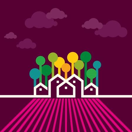 casa rural vector