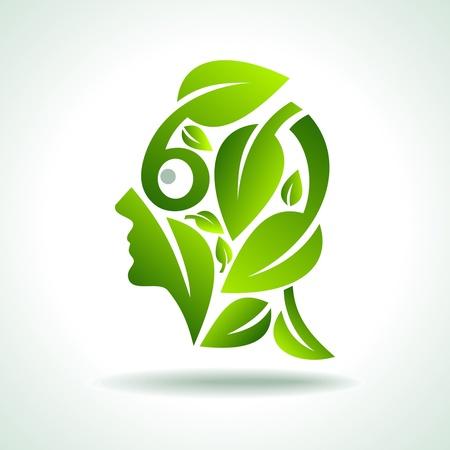 earth friendly: vector idea del medio ambiente Vectores