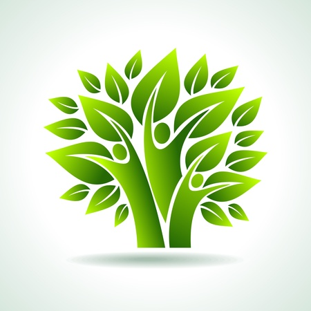 growing tree: environmental idea vector
