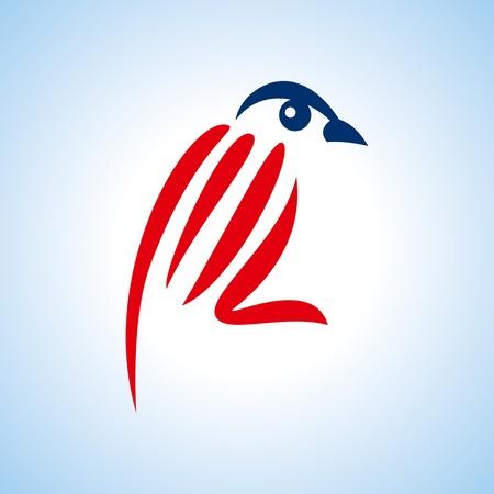creative bird sketch with hand Stock Vector - 18162058