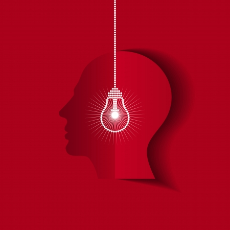 human head thinking a new idea Stock Vector - 18162068