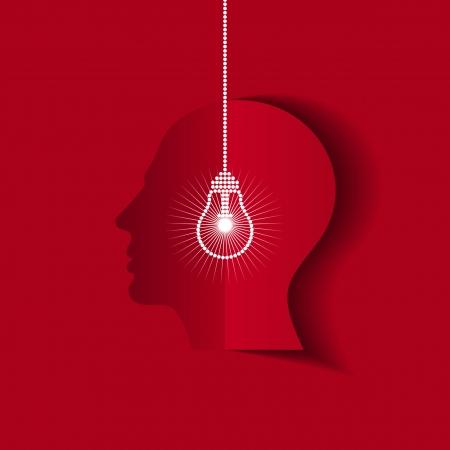 human head thinking a new idea Stock Vector - 18162068