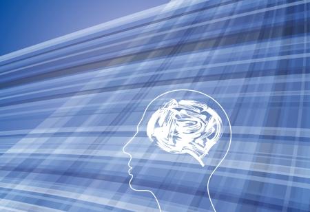 mind power: human head thinking a new idea