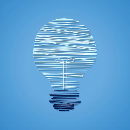 creative idea light bulb with line-work Stock Vector - 18161069