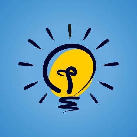 creative idea light bulb Stock Vector - 18160998