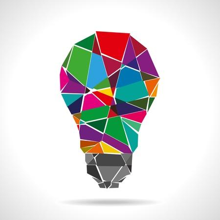 innovacion: idea colorido roto