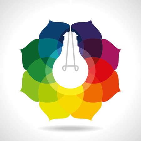 bombilla: multicolor idea de negocio Vectores