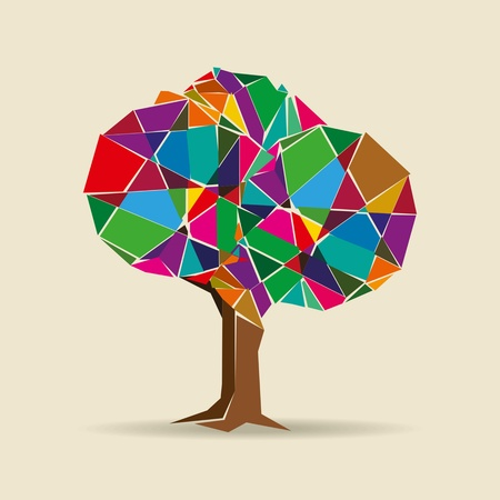 colorful tree Stock Vector - 18161486