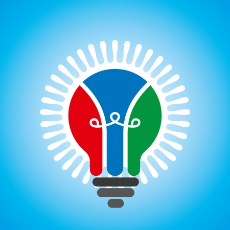 creative idea light bulb Stock Vector - 18160996