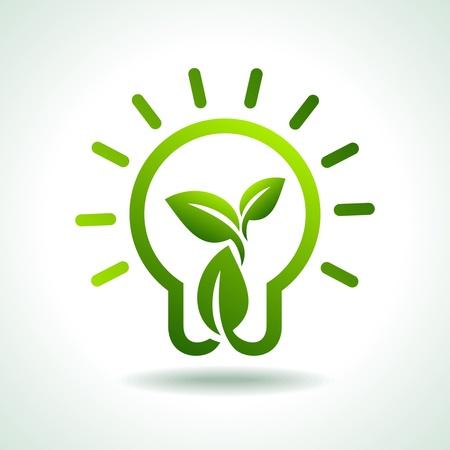 ecologic: save green environment idea