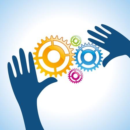onderhoud auto: menselijke hand oplossen van de technische problemen
