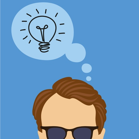 illustration of thinking idea Stock Vector - 18157770