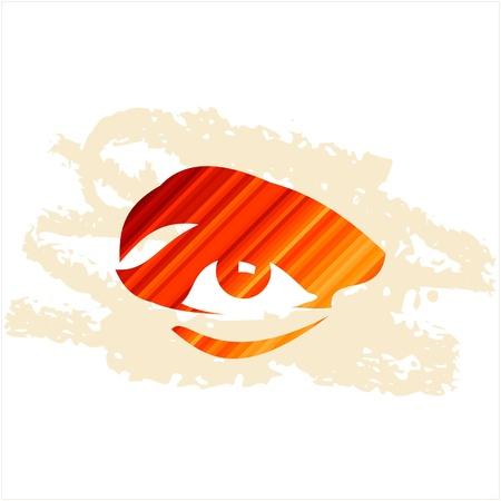 retina display: human eye vector Illustration