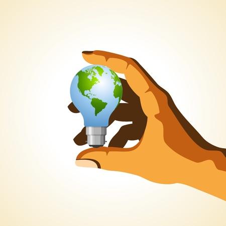 hold a global idea Stock Vector - 18157871
