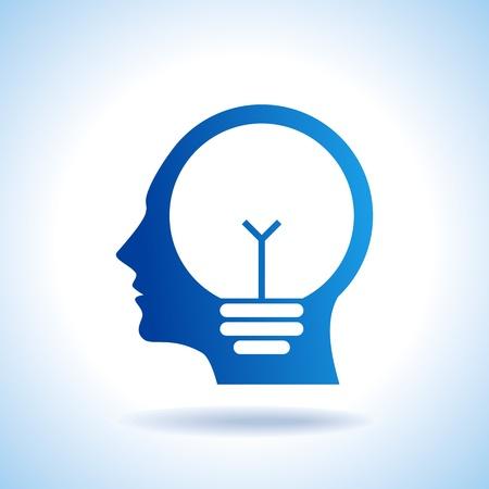 cerebro blanco y negro: concepto de la idea Vectores
