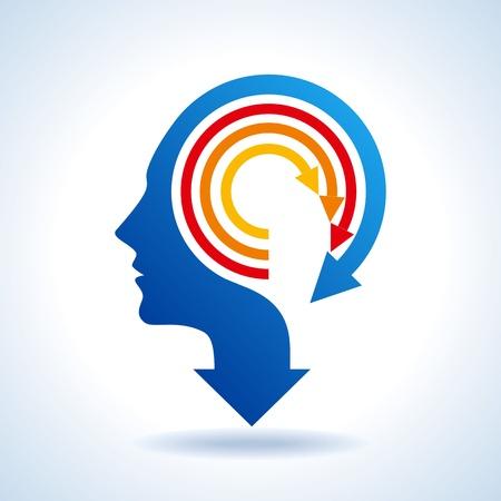mente: vector de la mente empresarial