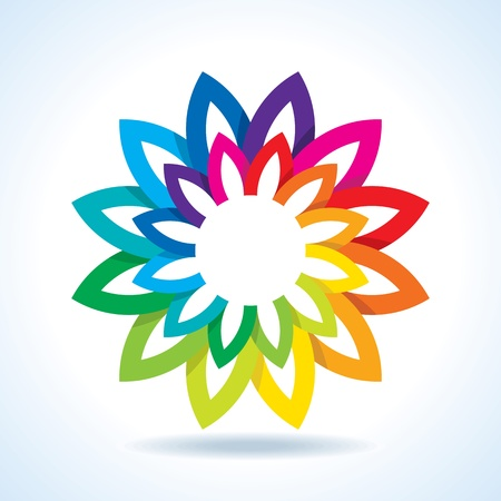 circulos concentricos: Flor de la rueda de color de fondo