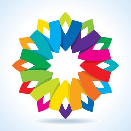 concentric circles: Flor color de fondo de la rueda