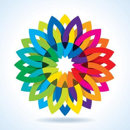 chromatic: Color flower wheel background