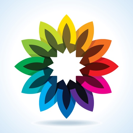 chromatic color: Color flower wheel background