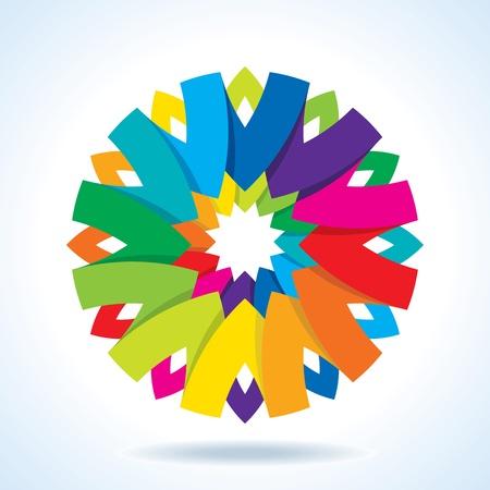 chromatique: Roue de couleur de fond fleur