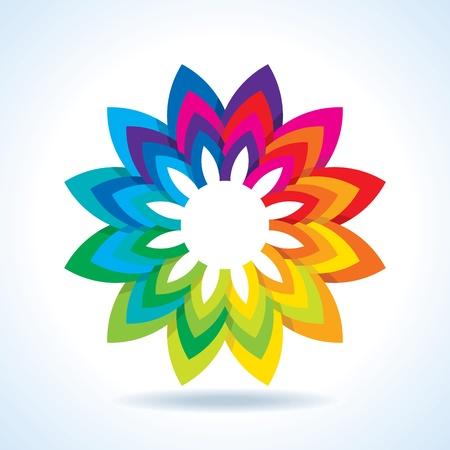 descriptive color: Color flower wheel background