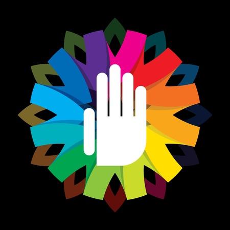 duchowej strony na kolorowym tle