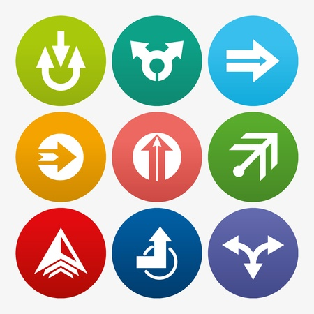 electric hole: business arrow sign icon set
