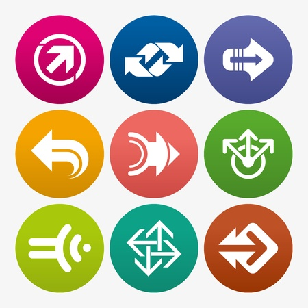 business arrow sign icon set Stock Vector - 18157423