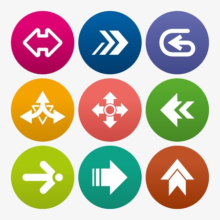 direction board: business arrow sign icon set
