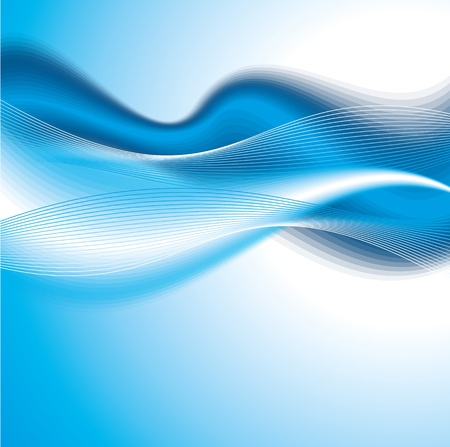 girds: Abstract blue Shiny waves