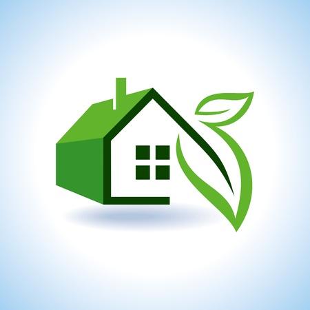 kassen: Bio eco groene huis pictogram