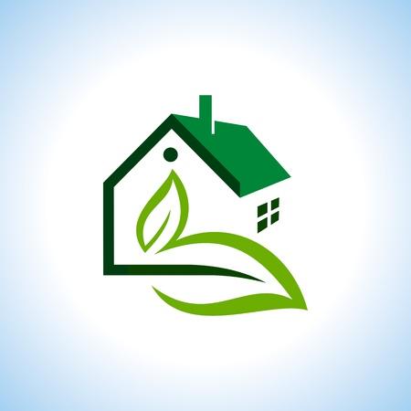 biological: Bio eco green house icon